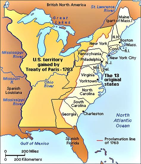 After America in the treaty of britain ceded all lands west of