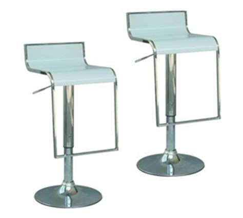 Lots Of Gas And Stools by 2 X Modern Retro Solid Abs And Gas Lift Bar Stool White Auction Graysonline Australia