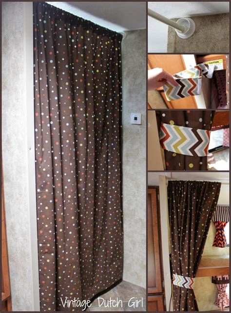 privacy curtains for rv vintage dutch girl travel trailer makeover part 9 bunk
