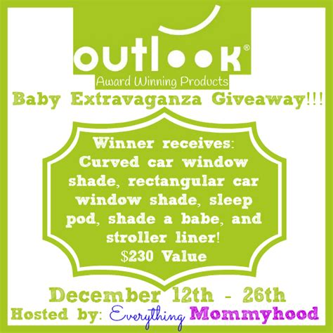Baby Giveaways 2014 - outlook baby extravaganza giveaway 12 26