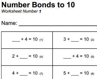 year 7 maths printable worksheets uk free printable mathematics worksheet number bonds to 10