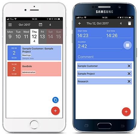 mobile time tracking mobile time tracking beebole timesheet app