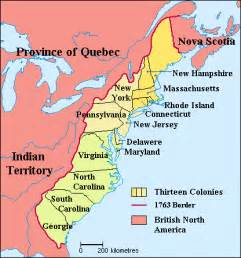 America 13 Colonies Map by The American Revolution 1775 1783 Site For Language