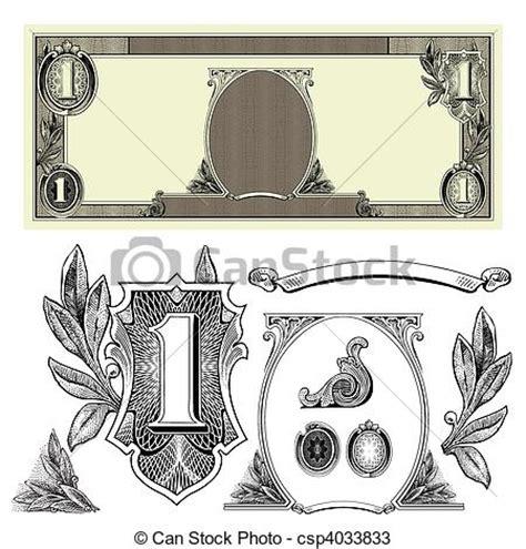 money dollars and design elements vector vectors of vector money elements set of detailed vector