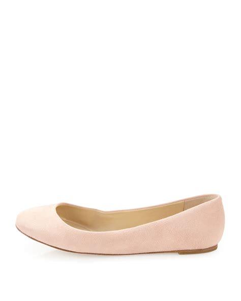 wang flat shoes vera wang lavender lara suede ballet flat in lyst