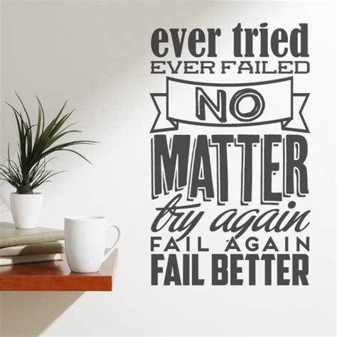 fail better quote fail better wall sticker quote wall chimp uk