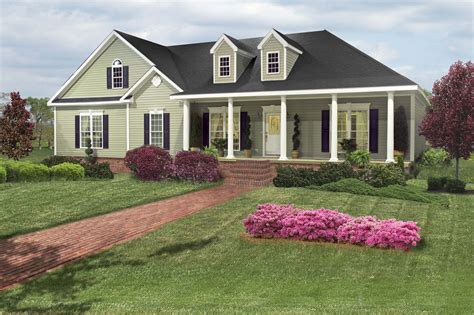 house plans with front porch and dormers b this is a ranch but want it two floors left side is