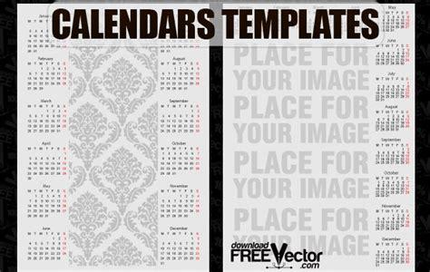 Calendar 5 Years Ago Calendar Vintage Template Vector Free