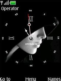 themes swf clock download swf black face clock nokia theme mobile toones