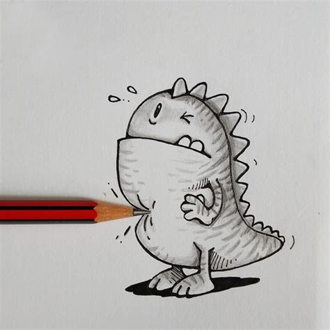 awesome doodle ideas adorable illustrated characters playfully interact with