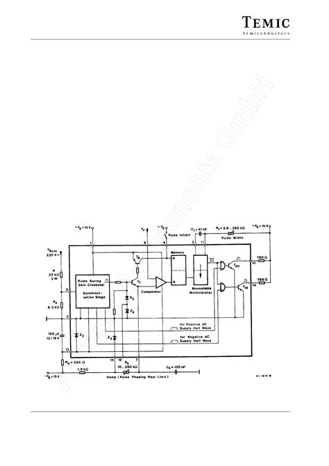 industrial applications of integrated circuits datasheet uaa145 pdf temic phase circuit for industrial applications 1 page