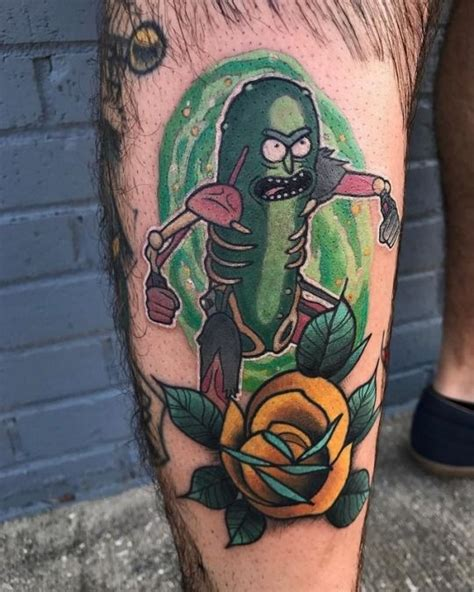 pickle tattoo best 25 pickle rick ideas on