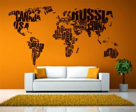 Map Home Decor by Home Decor Map Vinyl Decal Cutzz
