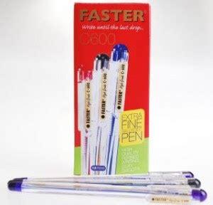 Pen Faster C600 1 Lusin 12pcs grosir alat tulis sekolah