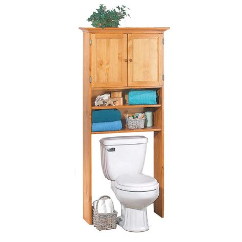 Wood Bathroom Storage Furniture Espresso Glossy Wooden Freestanding Storage The Toilet With Drawer And Shelf