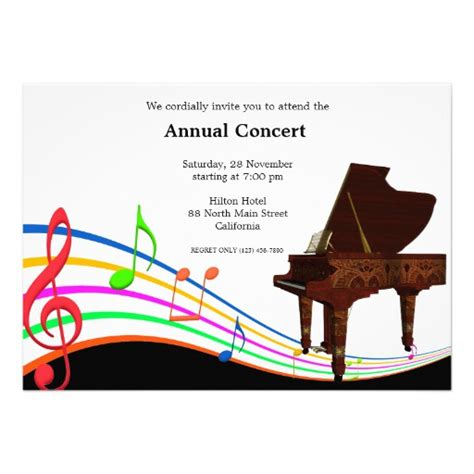 Concert Invitation Card