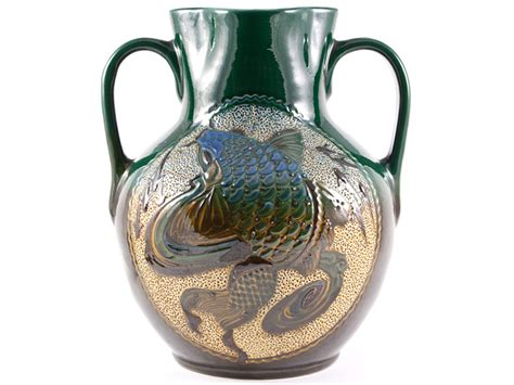 Fish Vase by Charles H Brannam Style Fish Vase C1895