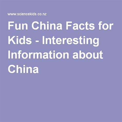 fun china facts for kids interesting information about
