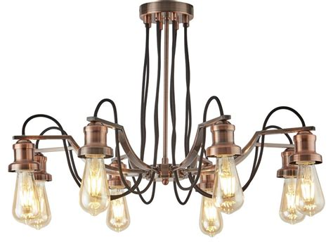 Industrial Style Chandeliers 8 Light Chandelier Pendant Antique Copper Retro Industrial Style