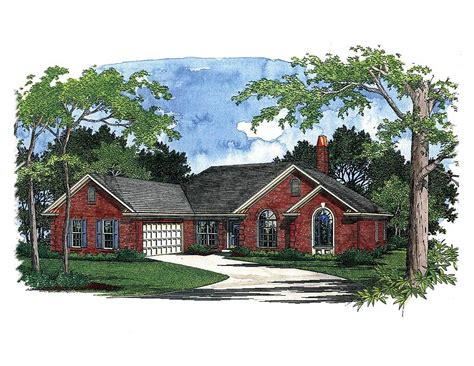 traditional ranch house plans traditional ranch house plan 2037ga architectural