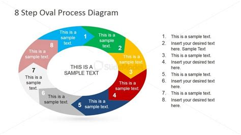 oval circular process diagram for powerpoint slidemodel oval powerpoint diagram 8 clockwise steps for powerpoint