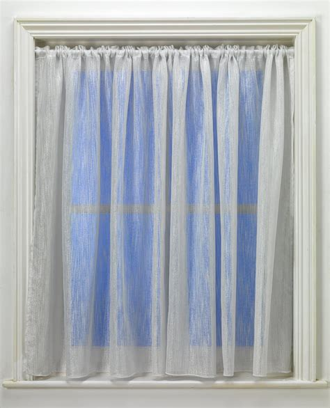 shimmer curtain shimmer cream voile curtain from net curtains direct