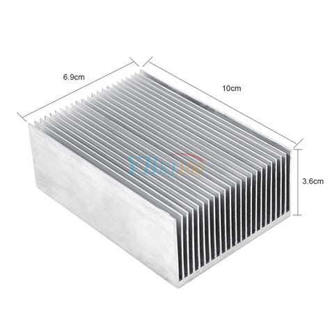 heatsink transistor 100x69x36mm aluminum heatsink heat sink cooling fin radiator for led transistor ebay