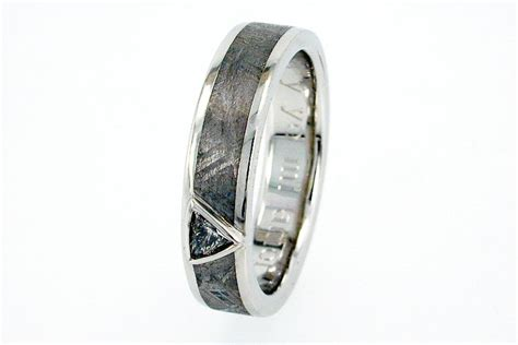 Wedding Bands Groom by Unique Meteorite Wedding Band For Grooms Onewed