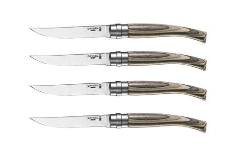 opinel steak knives opinel birchwood handle steak knife set 4
