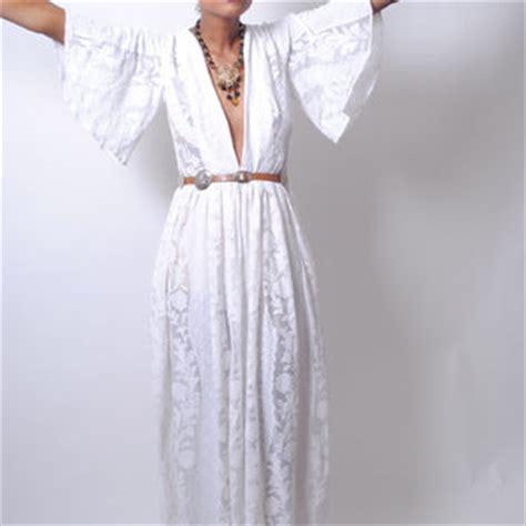 white lace boho maxi dress boho white lace maxi dress plunging from