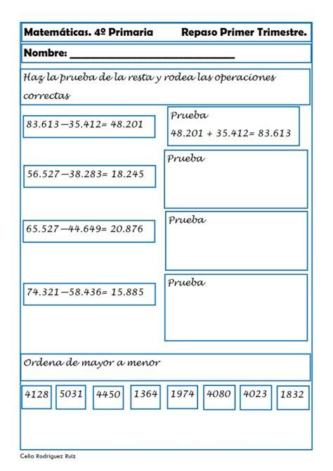 preguntas de matematicas para cuarto grado indice de contenido1 recursos para el aula matem 225 ticas