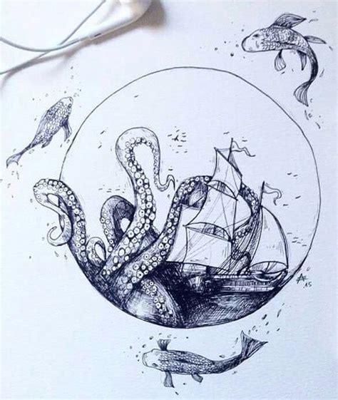 Tas Totebag Octopus Bad Cool die besten 25 kraken oberschenkel tattoos ideen auf