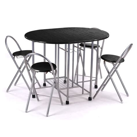 folding kitchen table and chairs set 5pc kitchen dinette dinning folding table and chairs set
