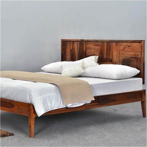 modern pioneer solid wood size platform bed frame