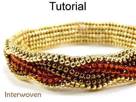 beading tutorial pattern bracelet herringbone stitch