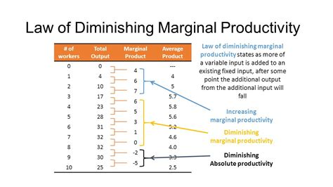 economics law of diminishing marginal average product is the output per worker ppt video