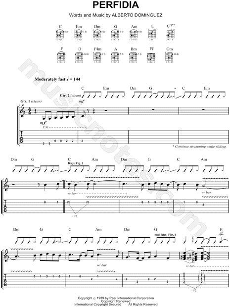"""The Ventures """"Perfidia"""" Guitar Tab in C Major - Download"""