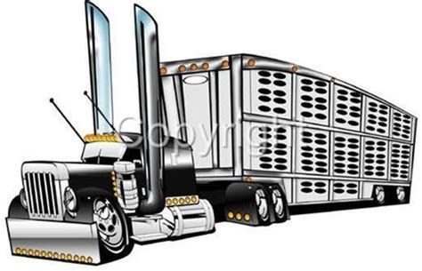 peterbilt big rig semi truck cartoontees tshirt 1010