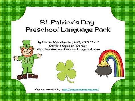 kindergarten activities st patrick s day carrie s speech corner st patrick s day preschool