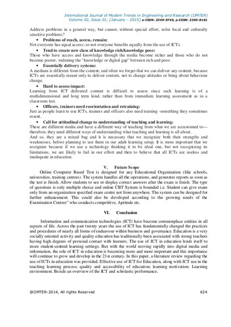 computer based test use of ict in education computer based test