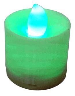 large tea light candles large flameless led tea light candles green 24pcs