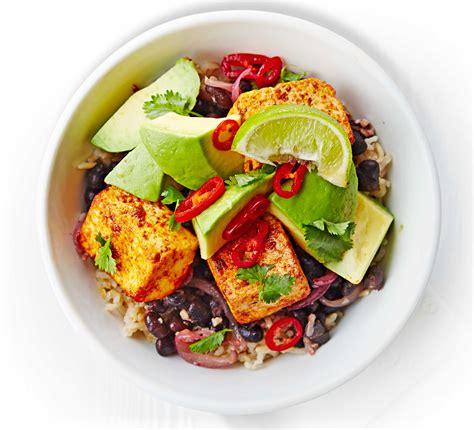 Summer Lunch Menu Ideas For Entertaining - black bean tofu amp avocado rice bowl bbc good food