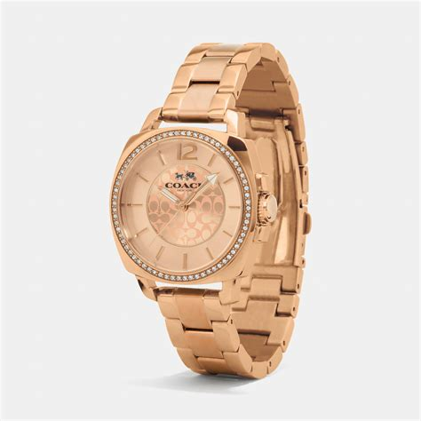 coach boyfriend 34mm gold plated bracelet