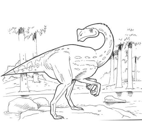 triassic dinosaurs coloring pages teratosaurus triassic dinosaur coloring page free