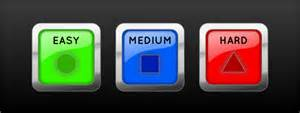 Best Green Colors buttons which colors would best convey 3 difficulty