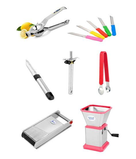kitchen cutting tools airan kitchen cutting tools set combo of 7 pcs buy at best price in india snapdeal