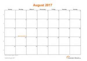 Kalender 2018 August September August 2017 Kalender Mit Feiertagen