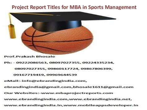 Mba In Sports Management Scope by Project Report Titles For Mba In Sports Management
