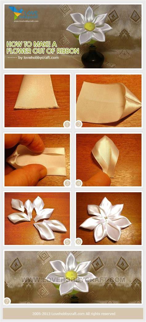 How To Make Flowers Out Of Paper Ribbon - 17 beste idee 235 n linten bloem op linten
