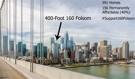 400 Feet by 400 Foot 160 Folsom Tower Moves Through Planning